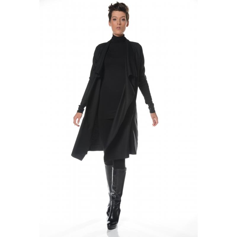 veste fluide noir 3 4 v tement femme grande taille. Black Bedroom Furniture Sets. Home Design Ideas