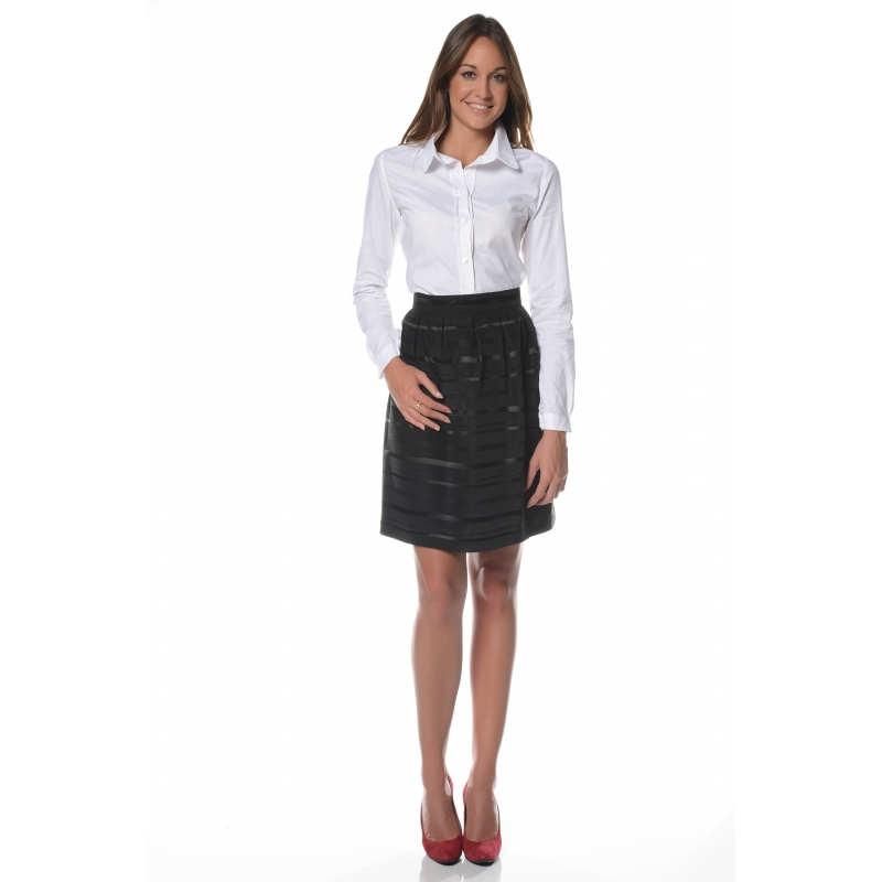 jupe taffetas noire vetement femme grande taille. Black Bedroom Furniture Sets. Home Design Ideas
