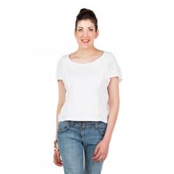 "T-shirt blanc emmanchure ""cape"""