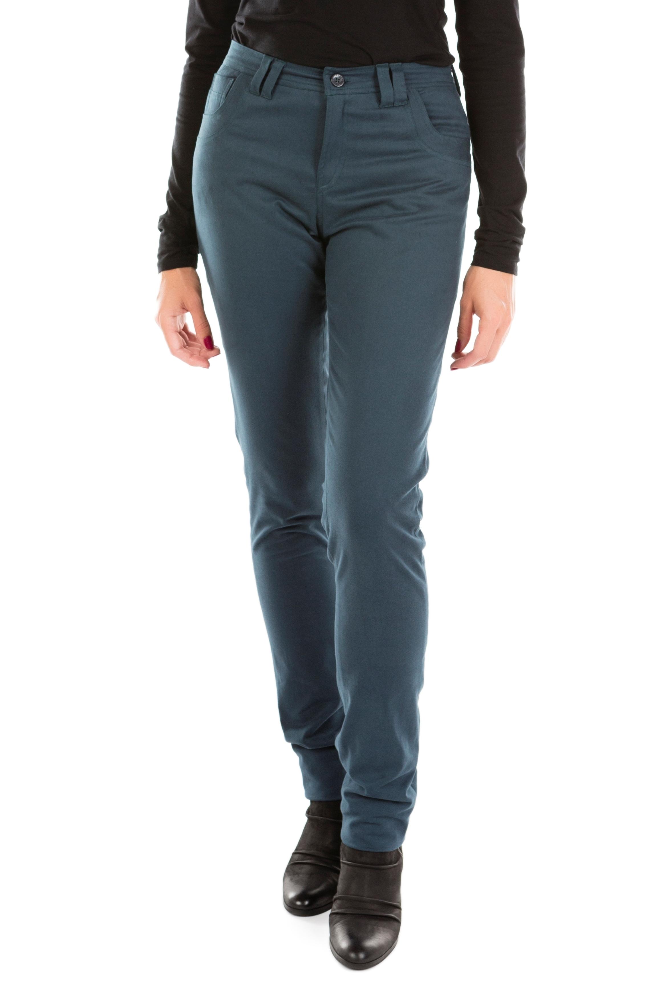 Jeans bleu pétrole