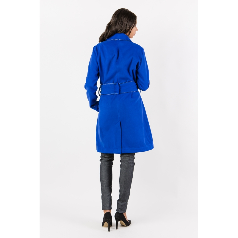 manteau femme bleu roi. Black Bedroom Furniture Sets. Home Design Ideas