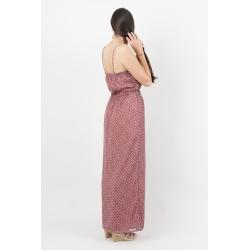 Robe longue voile à motifs