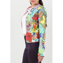 Veste cintrée multicolore