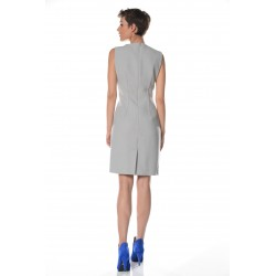 Grey dress with front detail