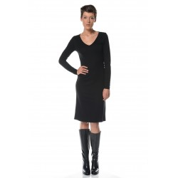 Black V neckline dress