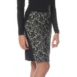 Black Skirt with Lace Detail