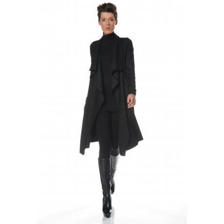 veste fluide noire femme