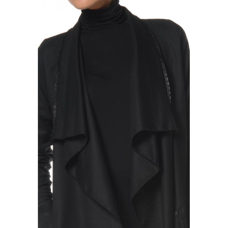 Veste femme noire fluide