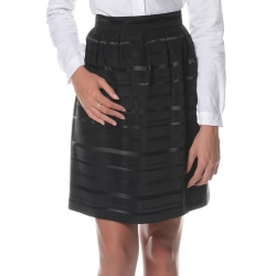 Black Skirt in Taffeta Fabric