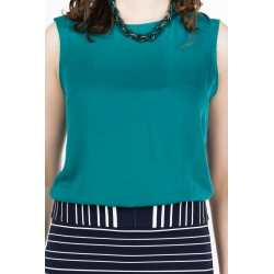 Green emerald dress in navy style