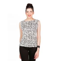 White dotted t-shirt