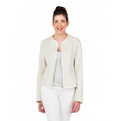 Beige jacket tall woman