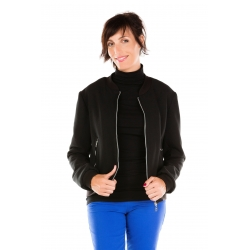 Black Bomber Jacket tall woman clothing