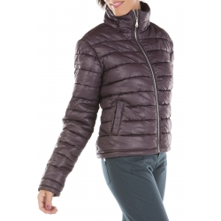 Purple padded jacket