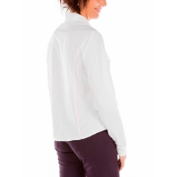 Shirt at waist in white and pink binding