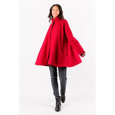 Manteau - Cape rouge-vetement-femme-grande-taille