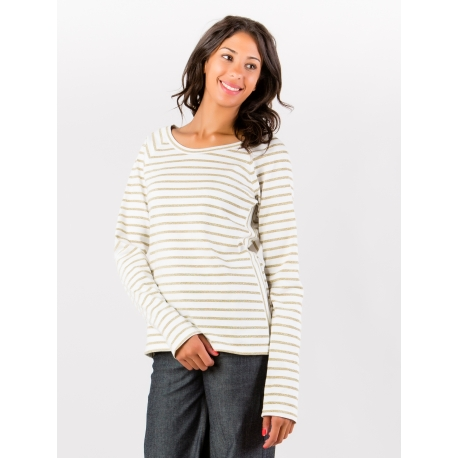Navy Style Sweat in white and golden stripes