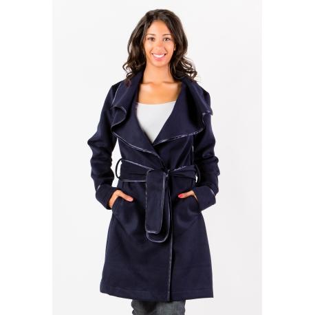 Manteau bleu marine femme grande taille