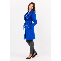 Manteau bleu royal