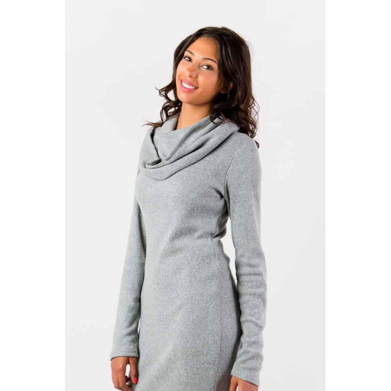 Robe pull laine grande taille