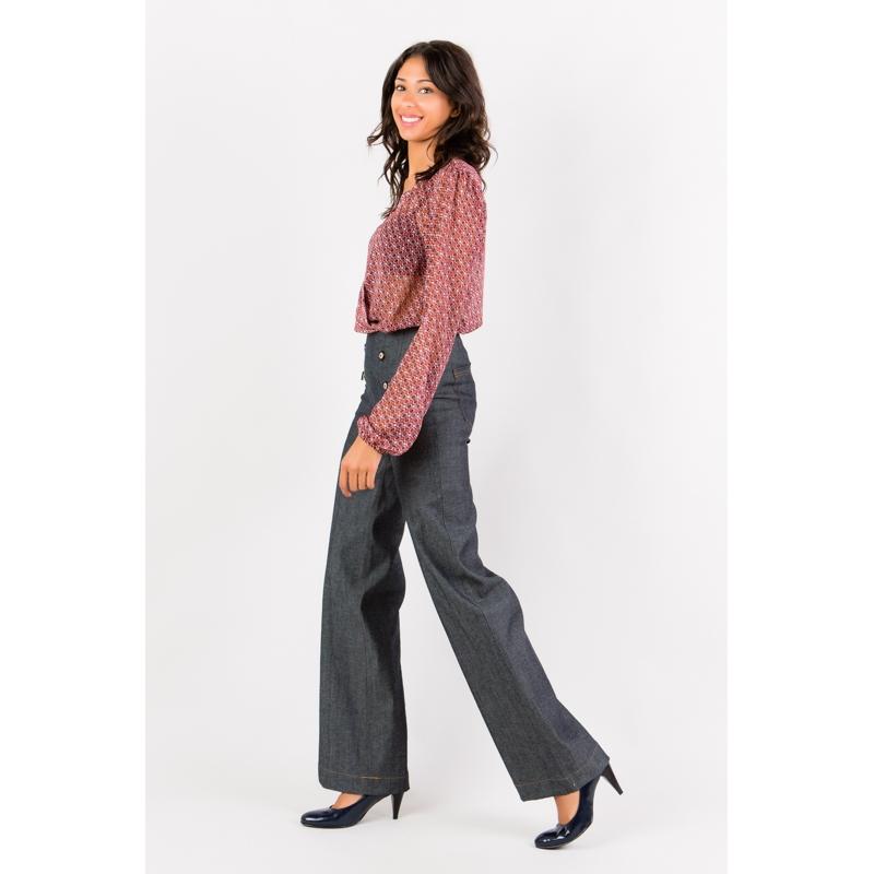 pantalon jeans brut coupe droite vetement femme grande taille. Black Bedroom Furniture Sets. Home Design Ideas
