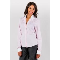 Shirt pale pink checked plaid