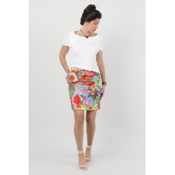 Straight skirt multicolored