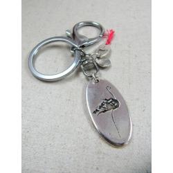 """Porte clés """" Flamenzo """" - finition argent 925"""