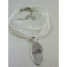 "Collier ""Flamenzo"" - finition argent 925 - cordon organza"