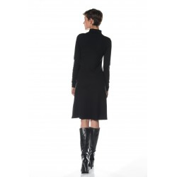 Black turtleneck dress tall woman clothing