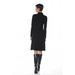 Robe noire col montant vêtement femme grande taille